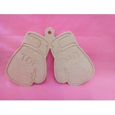 4mm Thick MDF Top Dads boxing gloves